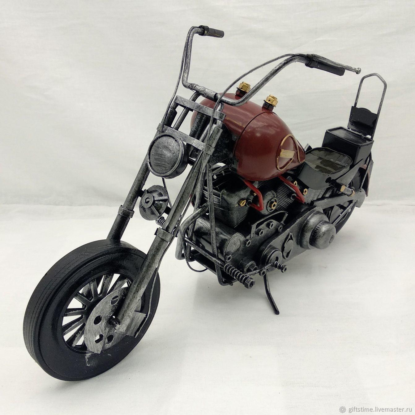 "Ретро-модель мотоцикла ""Harley-Davidson"" для декора (М06), Статуэтки, Обнинск,  Фото №1"