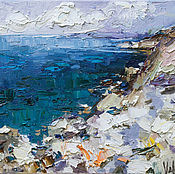 Картины и панно handmade. Livemaster - original item Rocky shore #3 Original oil seascape painting. Handmade.