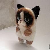 """Куклы и игрушки ручной работы. Ярмарка Мастеров - ручная работа """"Я слежу за тобой"""". Grumpy cat. Handmade."""