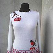Одежда ручной работы. Ярмарка Мастеров - ручная работа свитерок вязаный шерсть с мохером. Handmade.