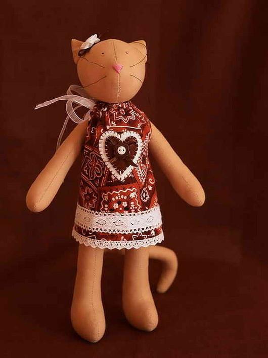 Куклы Тильды ручной работы. Ярмарка Мастеров - ручная работа. Купить Тильда Кошка. Handmade. Тильда, хлорофайбер