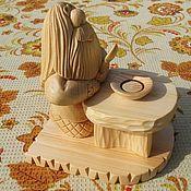 Для дома и интерьера handmade. Livemaster - original item The composition of Bon appetit!. Statuette of wood. Figure of the cedar. Handmade.