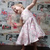Платья ручной работы. Ярмарка Мастеров - ручная работа Авторское платье из хлопкового жаккарда Розочки. Handmade.