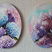 Картины и панно ручной работы. Ярмарка Мастеров - ручная работа Парные картины Цветы. Handmade.