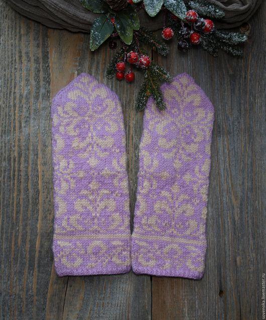 Варежки, митенки, перчатки ручной работы. Ярмарка Мастеров - ручная работа. Купить Рукавички Морозко. Handmade. Разноцветный, рукавички