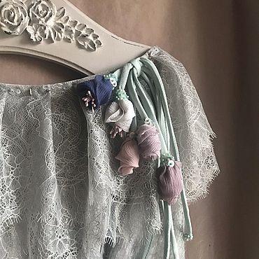 Одежда ручной работы. Ярмарка Мастеров - ручная работа Туника 2590 Инея вуаль. Handmade.