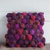 Для дома и интерьера ручной работы. Ярмарка Мастеров - ручная работа Подушка вязаная текстильная Розарий. Handmade.