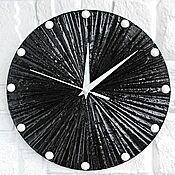 Для дома и интерьера handmade. Livemaster - original item Wall Clock Black with texture. Handmade.