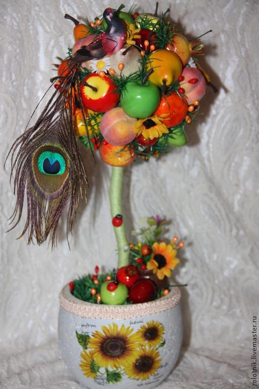 """Топиарии ручной работы. Ярмарка Мастеров - ручная работа. Купить Топиарий """"Фруктовое чудо"""". Handmade. Топиарий дерево счастья"""