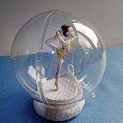 Елочные игрушки ручной работы. Ярмарка Мастеров - ручная работа Гимнастка в шаре подарок гимнастке. Handmade.
