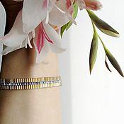 Украшения handmade. Livemaster - original item Bracelet made of bugle beads and cubic beads. Handmade.