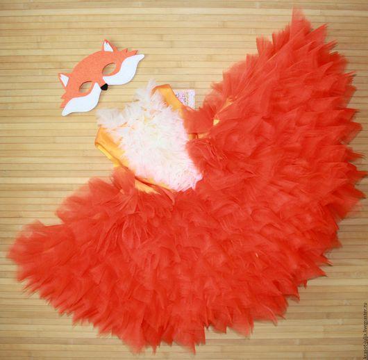 Детские карнавальные костюмы ручной работы. Ярмарка Мастеров - ручная работа. Купить Лисичка Карнавальный костюм платье для детей детское для девочки. Handmade.