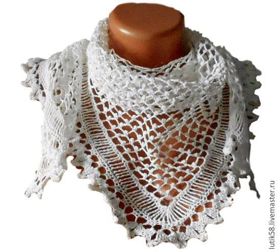 Linen shawl crochet Snowdrops. Master class(video), Courses and workshops, Kurgan,  Фото №1