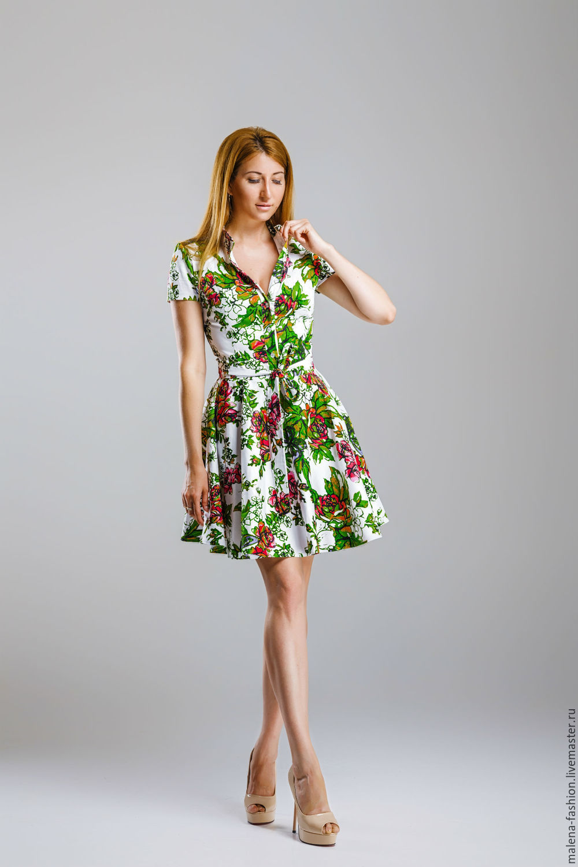 Платья ручной работы. Платье рубашка. Malena Fashion. Интернет-магазин Ярмарка  Мастеров. Сарафан 6ef24548c75