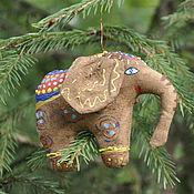 """Подарки к праздникам ручной работы. Ярмарка Мастеров - ручная работа """"Слон"""" елочное украшение. Handmade."""