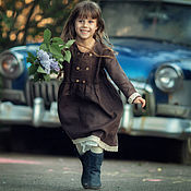 Одежда детская handmade. Livemaster - original item Dress for girls linen children`s. Handmade.