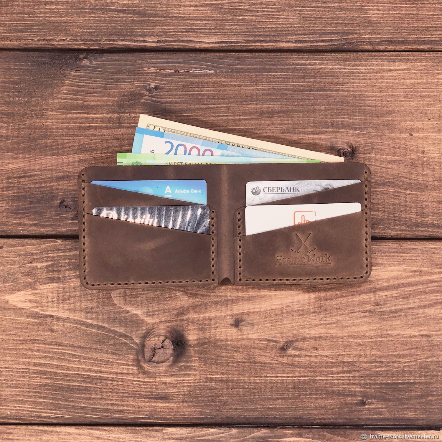 Rome genuine leather wallet, Wallets, Moscow,  Фото №1