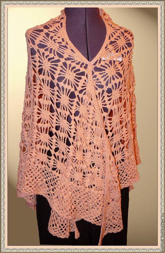 Shawls & Stoles handmade. Livemaster - handmade. Buy Shawl crochet 'Bugs'.Shawl crochet, ornament, shawl winter crochet