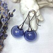 Украшения handmade. Livemaster - original item Earrings Lavender made from hand-blown beads . Lampwork. Handmade.