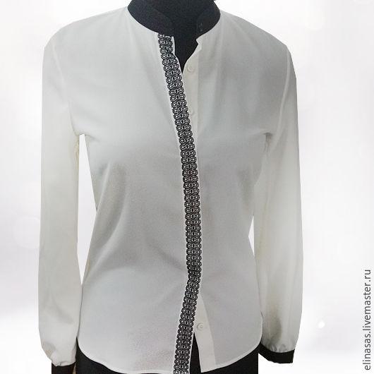 Блузки ручной работы. Ярмарка Мастеров - ручная работа. Купить Блуза классическая. Handmade. Чёрно-белый, стильный