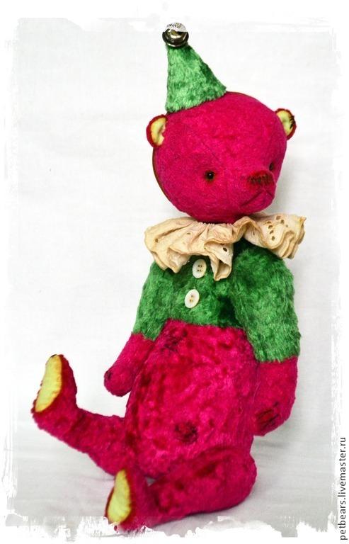 Мишки Тедди ручной работы. Ярмарка Мастеров - ручная работа. Купить Медведь Руби. Handmade. Фуксия, ручные медведи