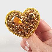Украшения handmade. Livemaster - original item Brooch set Heart gold and Star silver. Handmade.