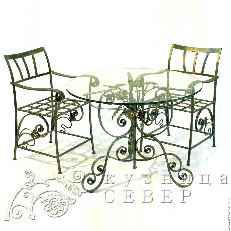 Мебель ручной работы. Ярмарка Мастеров - ручная работа. Купить Набор кованой мебели Санджовезе Пикколо. Handmade. Мебель, кресла