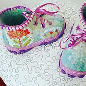Работы для детей, ручной работы. Ярмарка Мастеров - ручная работа Ботинки валяные. Handmade.