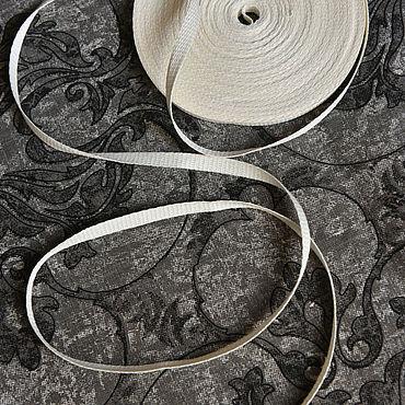 Материалы для творчества ручной работы. Ярмарка Мастеров - ручная работа 4586L льняная лента отбелённая. Handmade.