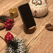 Подставки ручной работы. Ярмарка Мастеров - ручная работа Подставка для телефона (визиток) из дерева. Handmade.