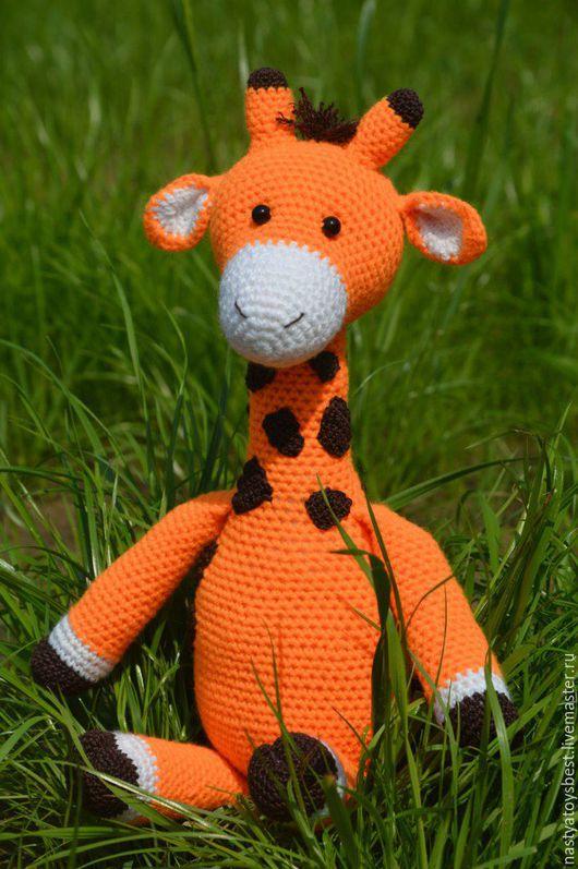 Игрушки животные, ручной работы. Ярмарка Мастеров - ручная работа. Купить Игрушка Жирафик крючком вязаный. Handmade. Жирафик, комбинированный
