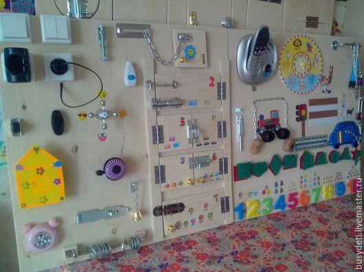 Развивающие игрушки ручной работы. Ярмарка Мастеров - ручная работа. Купить Бизиборд 120х60см. Handmade. Комбинированный, бизиборд екатеринбург, фанера