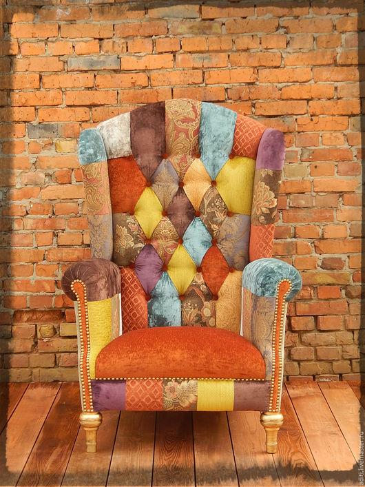 Мебель ручной работы. Ярмарка Мастеров - ручная работа. Купить кресло каминное 63. Handmade. Высокое кресло, интерьер, поролон