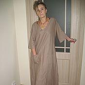 Одежда ручной работы. Ярмарка Мастеров - ручная работа бохо платье лен. Handmade.