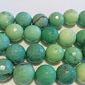 Материалы для творчества handmade. Livemaster - original item Chrysoprase faceted bead, 10 mm. ball. Handmade.