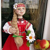 Куклы и игрушки ручной работы. Ярмарка Мастеров - ручная работа Кукла Русская краса. Handmade.