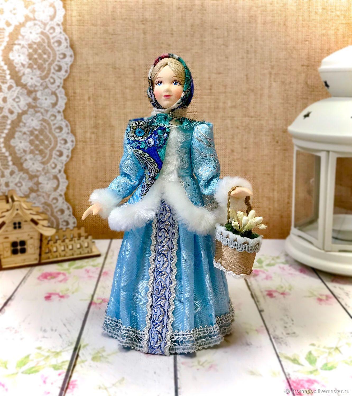 Кукла девочка с лукошком, Народная кукла, Хотьково,  Фото №1