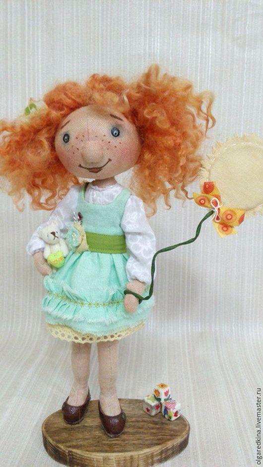 Куклы тыквоголовки ручной работы. Ярмарка Мастеров - ручная работа. Купить Солнышко. Handmade. Кукла ручной работы, кукла интерьерная