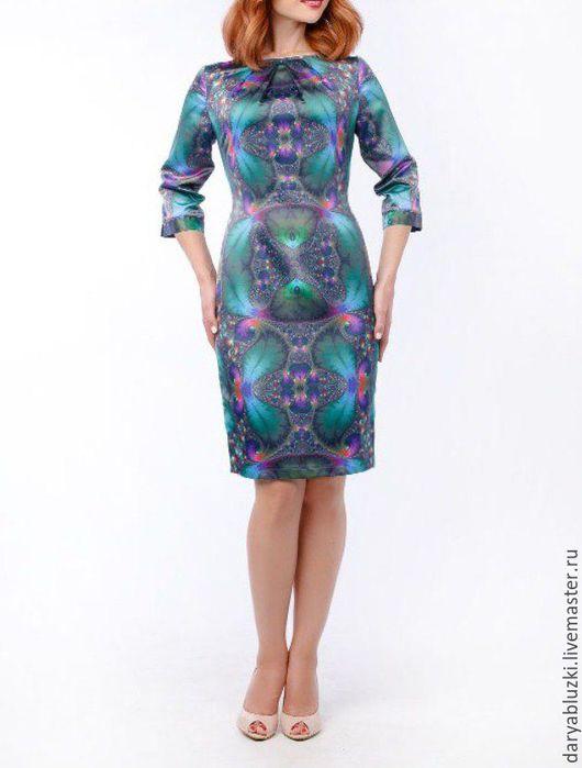 """Платья ручной работы. Ярмарка Мастеров - ручная работа. Купить Платье """"Стильный образ"""". Handmade. Комбинированный, красиво, вискоза, пэ"""