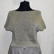 Одежда ручной работы. Ярмарка Мастеров - ручная работа Вязаный свитер Монвизо, 100% Ramia( волокно крапивы), Япония, бохо. Handmade.