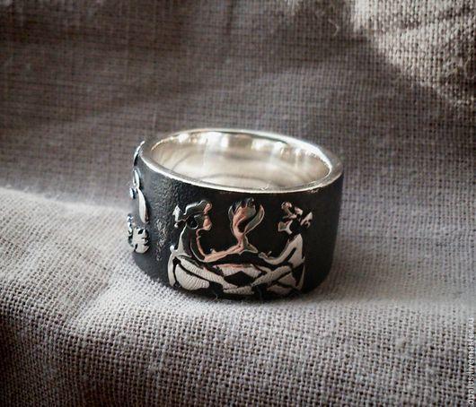 """Украшения для мужчин, ручной работы. Ярмарка Мастеров - ручная работа. Купить перстень """"Огни ацтеков"""". Handmade. Серебряное кольцо"""