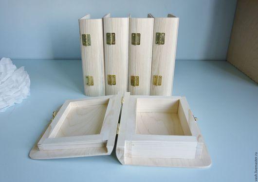 Заготовка для декупажа  деревянная Шкатулка книга мини в наличии 4 шт.