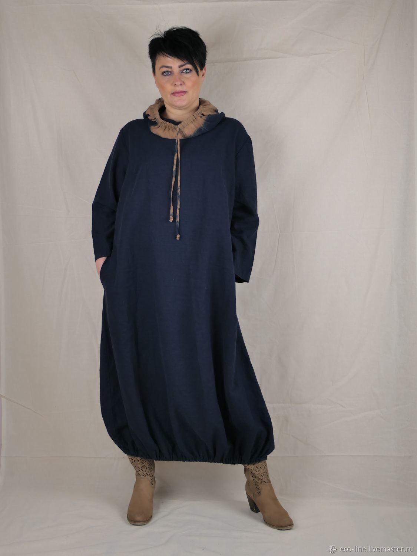Льняное платье с капюшоном, Платья, Витебск,  Фото №1