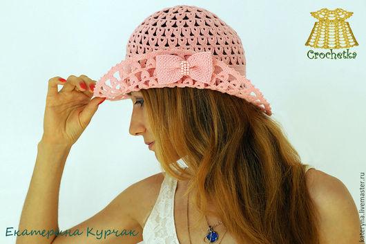 Шляпы ручной работы. Ярмарка Мастеров - ручная работа. Купить Летняя шляпка-трансформер с брошью-бантиком. Handmade. Коралловый, шляпа