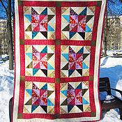 """Одеяла ручной работы. Ярмарка Мастеров - ручная работа Одеяло пэчворк """"Зимнее солнце"""". Handmade."""