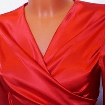 Одежда ручной работы. Ярмарка Мастеров - ручная работа блуза Silk  XS,  S, M ,L /красный , шелк. Handmade.