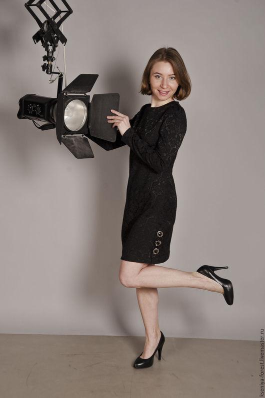 Платья ручной работы. Ярмарка Мастеров - ручная работа. Купить Маленькое, черное платье. Handmade. Черный, однотонный, хлопок