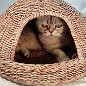 Домик для питомца ручной работы. Ярмарка Мастеров - ручная работа Плетеный домик для кота, лежанка  для кота. Handmade.
