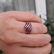 Украшения handmade. Livemaster - original item ZHANNA-an elegant ring with natural rubies. Handmade.