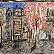 Картины и панно ручной работы. Ярмарка Мастеров - ручная работа Город. Handmade.